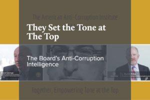 The Board's Anti-Corruption Intelligence